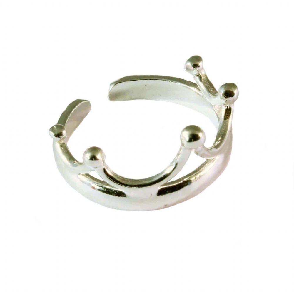 Charm School UK > Sterling Silver Toe Rings > Crown